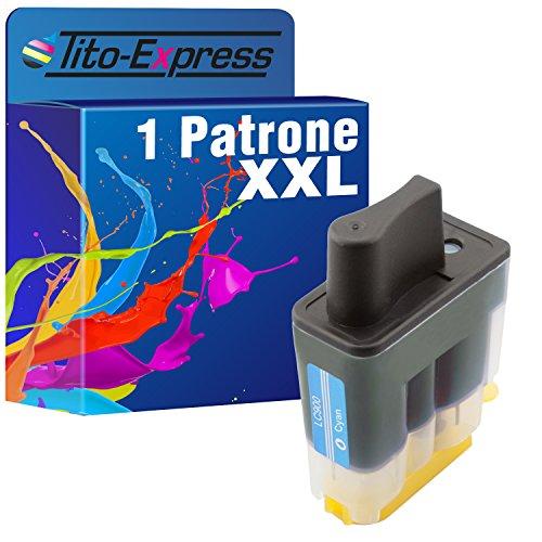 PlatinumSerie® 1x Tinten-Patrone XXL Cyan kompatibel für Brother LC900 DCP-110C MFC-820CW MFC-830 MFC-210 MFC-215 MFC-422