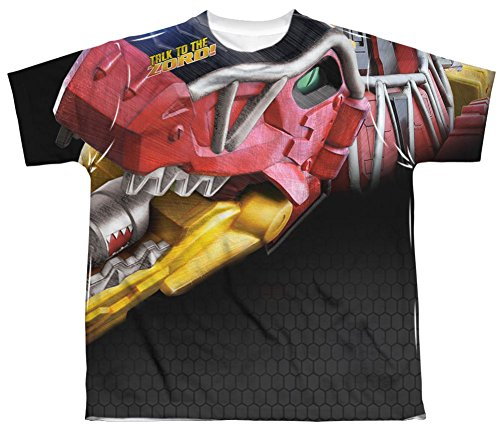 Power Rangers Dino Charge Big Zord - All Over Youth Front T-Shirt