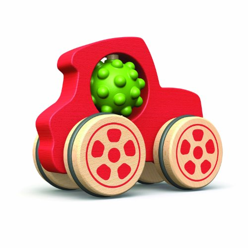 BeginAgain Nubble Rumblers - Toy Truck for Boys and Girls - Great Wooden Toy for Toddlers That Is Also An Eco-Friendly Toy - Truck Toy With Nubble Driver