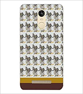 PrintDhaba Zebra pattern D-1808 Back Case Cover for XIAOMI REDMI NOTE 3 (Multi-Coloured)