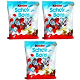 3 Packs of Kinder Schoko-bons Candy Candies with Milk Filling Hazelnuts