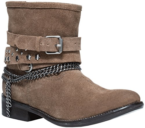 Women's Authentic Suede Flat Ankle Short Boots