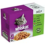 Whiskas Singles Favourites in Jelly 12 Pouches (Pack of 4, Total 48 Pouches)