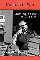 How to Write a Thesis Front Cover