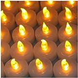 AGPtek® 100 Battery LED Operated Amber Tea Light Candle Flameless