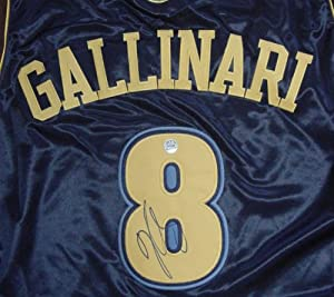 Danilo Gallinari Denver Nuggets Autographed Dark Blue #8 Jersey by Sports-Autographs