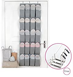 MOHO & HOME Fabric Over The Door Hanging Shoe Storage Organizer 20 Pockets with 3 Hooks