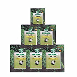 Khadi Mauri Herbal Black Henna Pack of 6 Natural Kali Mehndi - 100 gm each