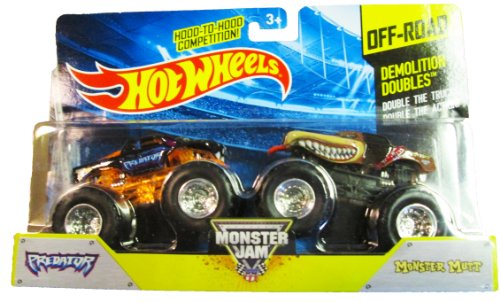 Hot Wheels - Monster Jam 2014 Off-Road - Demolition Doubles - Predator and Monster Mutt