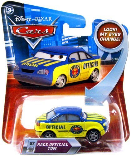 Disney / Pixar CARS Movie 155 Die Cast Car with Lenticular Eyes Series 2 Race Official Tom