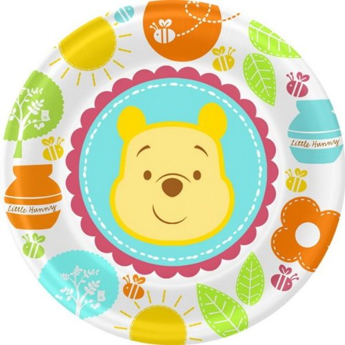 Winnie the Pooh 'Little Hunny' Baby Shower Small Paper Plates (8ct) - 1