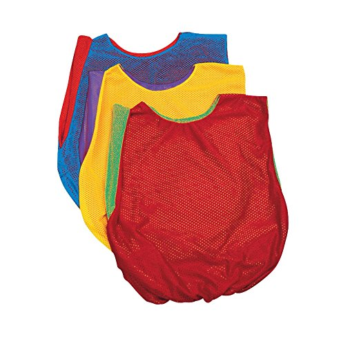 Sportime Dub-L-Scrim Pinnie - Youth - Green / Red