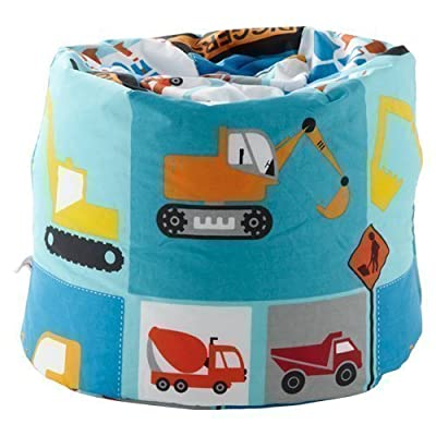 Ready Steady Bed Children's Bean Bag Construction Design Ready Filled