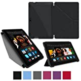 "rooCASE Case for Amazon All-New Kindle Fire HDX 8.9 - Slim Shell Origami Case HDX 8.9"" Tablet - BLACK (With Auto Wake / Sleep Cover)"