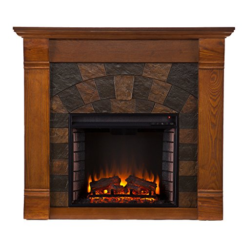 SEI Elkmont Salem Electric Fireplace, Outmoded Oak