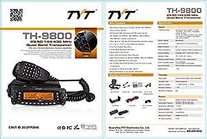 TYT TH-9800 PLUS Version Quad Band 10M/6M/2M/70CM Cross-Band 50W