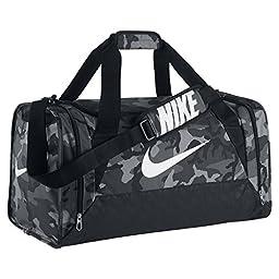 Nike Brasilia 6 Graphic Camo Medium Duffel Bag Anthracite/Black/White