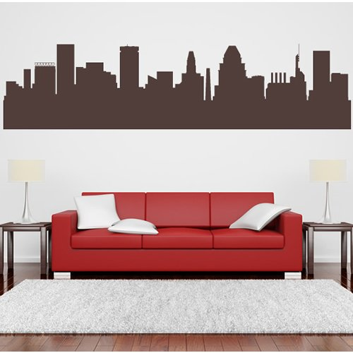 Austin Texas Skyline Wall Stickers Skyline Wall Decal Art available in 5 Sizes and 25 Colours Small Grass Green