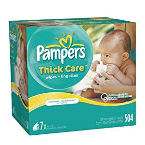 Pampers ThickCare Unscented Wipes 7x Box 504 Count