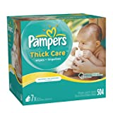 Pampers ThickCare Unscented Wipes Refill - 7x Box - 504 Count ~ Pampers