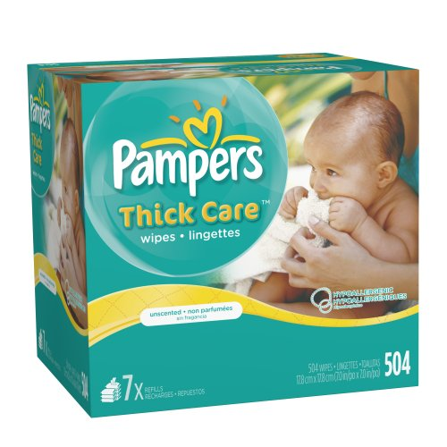 Pampers ThickCare Unscented Wipes Refill