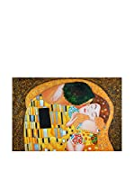 ARTE DAL MONDO Pintura al Óleo sobre Linezo Klimt Bacio Dettaglio