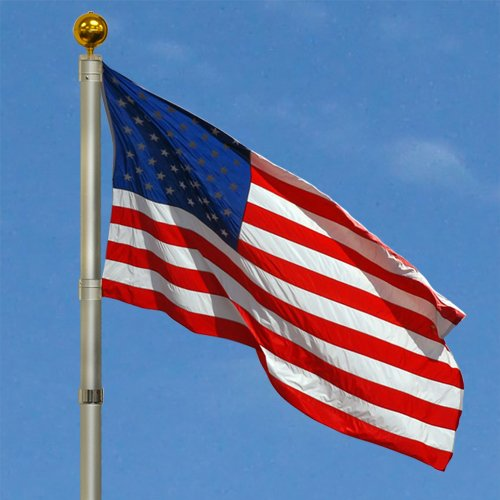 hanging a flag shows you're proud to be an American