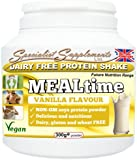 MEALtime: dairy free meal replacement (300g tub powder) - Vanilla Flavour