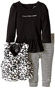 Calvin Klein Baby Girls' Animal Print…