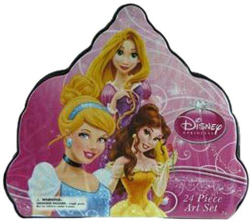 WeGlow International Disney Princess Shaped Art Set, 24-Piece