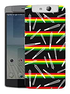 "Humor Gang Joints Rasta Pattern Printed Designer Mobile Back Cover For ""Oppo N1"" (3D, Matte, Premium Quality Snap On Case)"