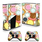 Protective Vinyl Skin Decal Cover for Microsoft Xbox 360 S Slim + 2 Controller Skins Sticker Skins Bubble Gum