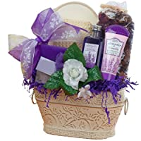 Art of Appreciation Gift Baskets Lavender Renewal Spa Bath and Body Gift Set, Medium