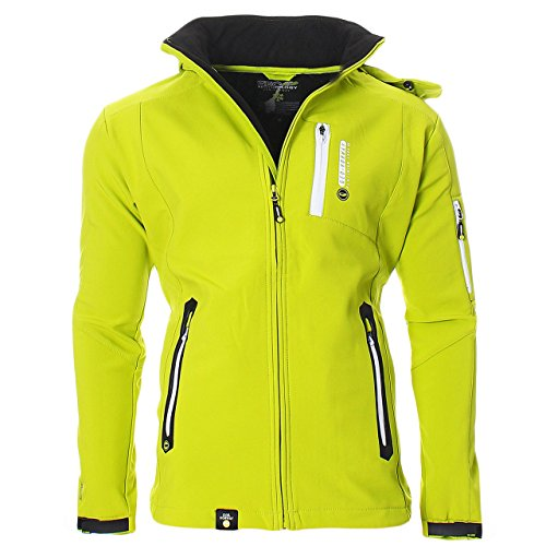 Geographical Norway Trimaran Uomo Softshell Outdoor Giacca Impermeabile Anapurna Tecnica - Verde, XL