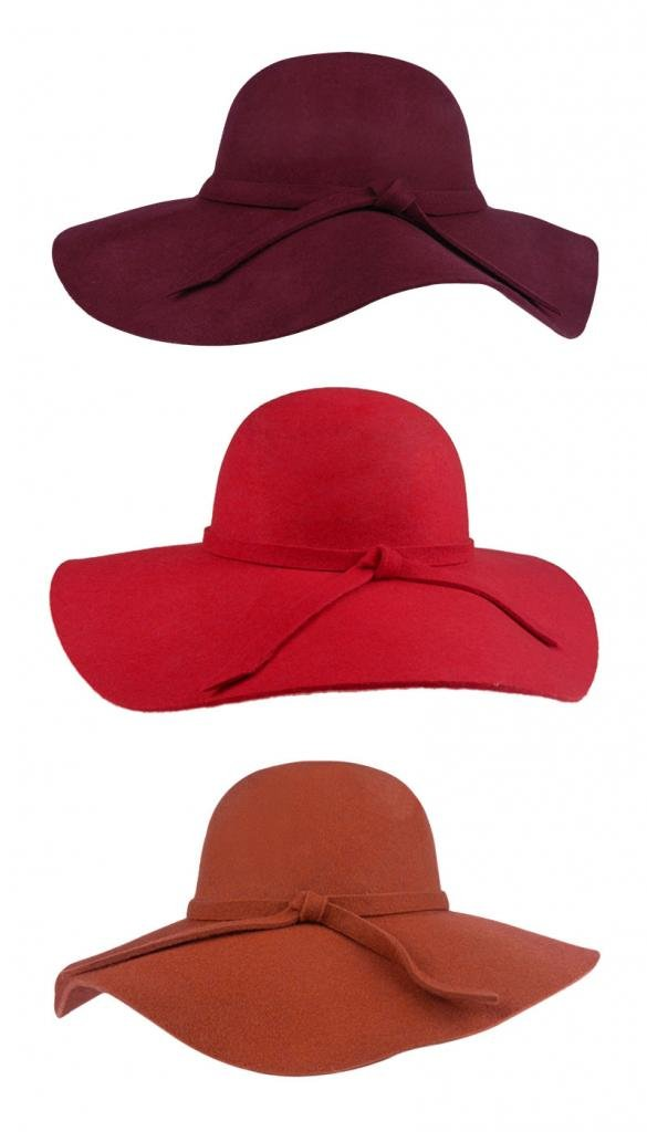 FUNOC Fashion Vintage Women Ladies Floppy Wide Brim Wool Felt Fedora Cloche Hat Cap 2