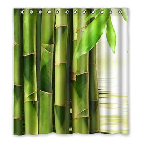"""167 cm x183 cm (66 """"x72"""") Bagno Doccia Tenda, unico Generico elegante design di bambù verde in poliestere impermeabile del tessuto bagno fatti su ordinazione Tenda della doccia novità"""