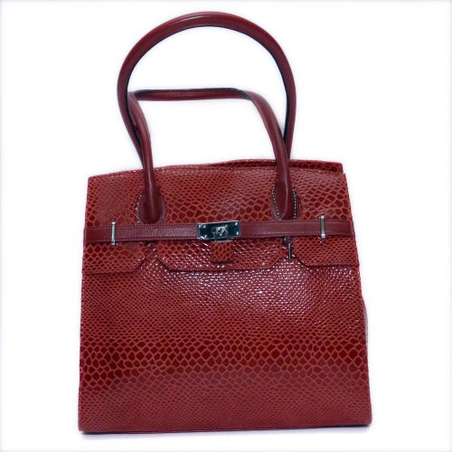 The Glamorous Draconis womens red color leather handbag by Bag Jack