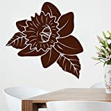 Decal Style Brown Rose Large SizeWall Sticker Large Size-30*30 Inch