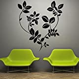 Decal Style Black Leaves Wall Sticker Small Size-16*18 Inch