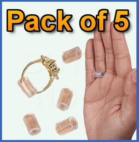 5 X Ring Snugs Jewellery Adjusters Huggies Snuggies