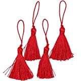 Expo Mini Fiber Tassel, Red, 4-Pack