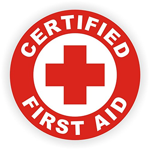 Certified First Aid Hard Hat Sticker / Helmet Decal Label Lunch Tool Box