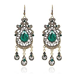 Sorella'z Green Palace Waterdrop Long Earrings