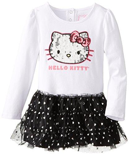 Hello Kitty Little Girls' Tutu Dress, Bright White, 4T