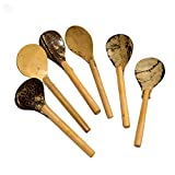 ARM S Coconut Shell & Wood Dessert Spoon - 6-Piece Set