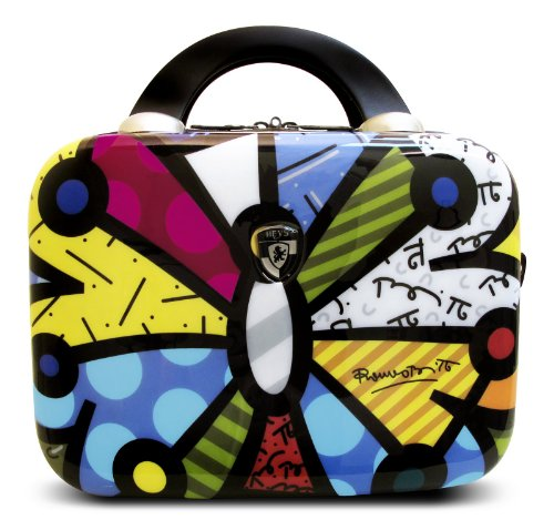 Heys USA Luggage Britto Butterfly Hard Side Beauty Case, Multi-Colored, One Size
