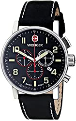 Wenger Men's Attitude Chrono Watch with Leather Bracelet