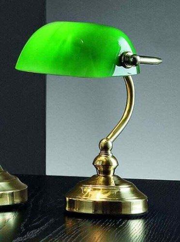 Fergie Rossa: Lampada Da Tavolo In Ottone Lucido Con Vetro Verde - Misure H. 25 Cm - 1Xe14 Max ...