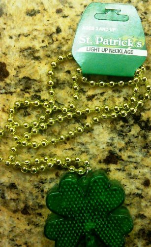 Light-up St. Patrick's Day Pendant Bead Necklace