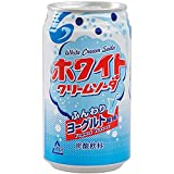 富永貿易 ホワイトクリームソーダ 350ml×24缶